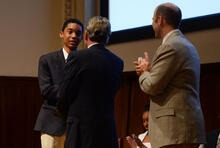 Recent Harlem Academy graduate, Malik, was the only student from NYC to place in the Dupont Science Challenge.